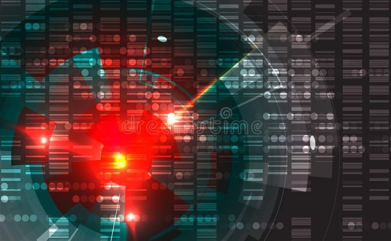 αφηρημένη τεχνολογία ανα&sigm Φουτουριστική διεπαφή τεχνολογίας Vecto απεικόνιση αποθεμάτων