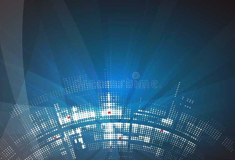 αφηρημένη τεχνολογία ανα&sigm Φουτουριστική διεπαφή τεχνολογίας Vecto διανυσματική απεικόνιση