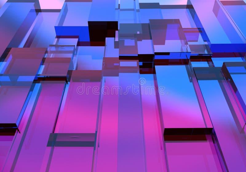Αφηρημένη τρισδιάστατη σύσταση κύβων διανυσματική απεικόνιση