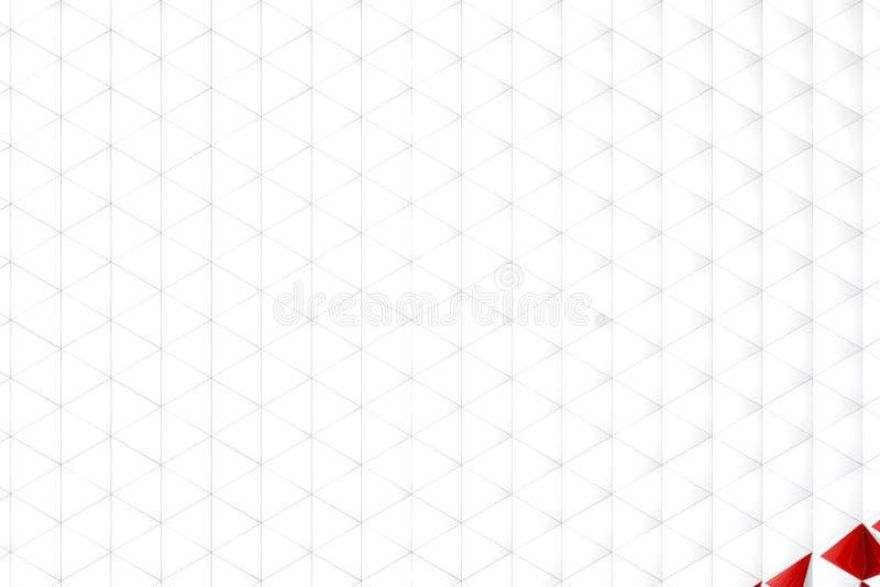 Αφηρημένη τρισδιάστατη απόδοση της άσπρης επιφάνειας στοκ εικόνα