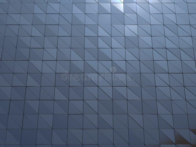 Αφηρημένη τρισδιάστατη απόδοση του μεταλλικού τοίχου στοκ εικόνες με δικαίωμα ελεύθερης χρήσης