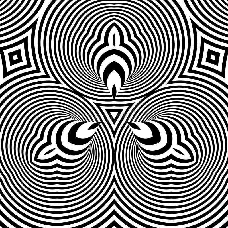 Αφηρημένη τρισδιάστατη γεωμετρική ανασκόπηση διανυσματική απεικόνιση
