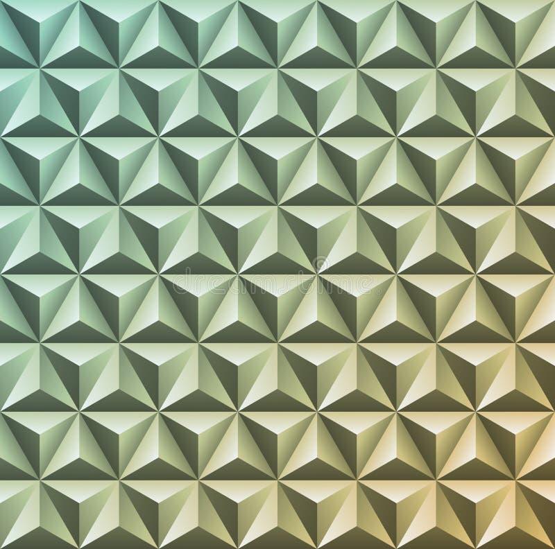 Αφηρημένη τρισδιάστατη γεωμετρική σύσταση Διανυσματικό σχέδιο κλίσης του triang διανυσματική απεικόνιση