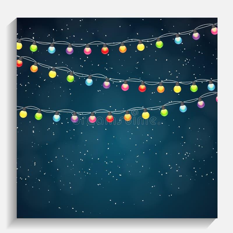 Αφηρημένη Χαρούμενα Χριστούγεννα ομορφιάς και νέο υπόβαθρο έτους με Mul απεικόνιση αποθεμάτων