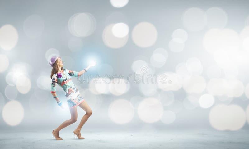 αφηρημένη χορεύοντας illustration inc γυναίκα στοκ εικόνα