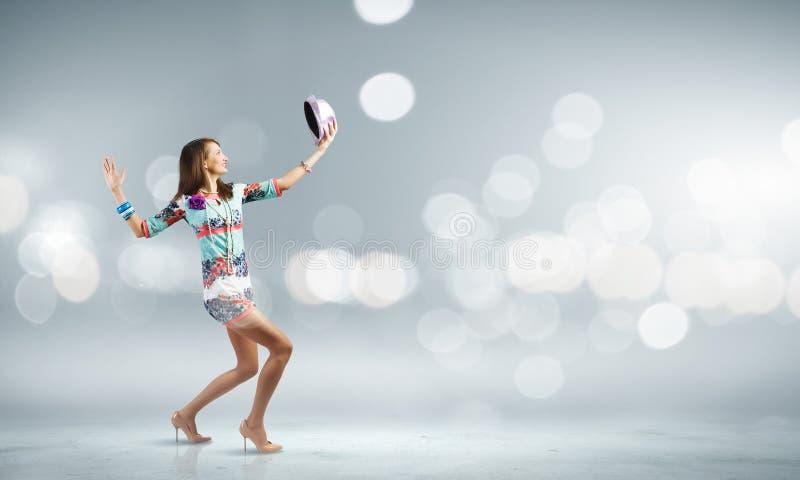 αφηρημένη χορεύοντας illustration inc γυναίκα στοκ φωτογραφίες