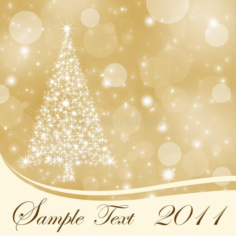 Αφηρημένη χρυσή ανασκόπηση Χριστουγέννων με το διάστημα αντιγράφων ελεύθερη απεικόνιση δικαιώματος