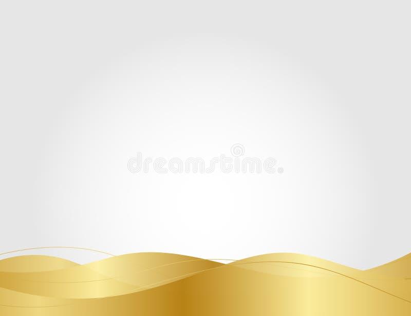Αφηρημένη χρυσή γραμμή στην ανοικτό γκρι διανυσματική απεικόνιση υποβάθρου πολυτέλειας σύγχρονου σχεδίου διανυσματική απεικόνιση