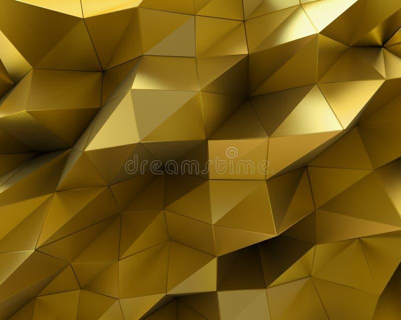 Αφηρημένη χρυσή επιφάνεια ανασκόπηση φουτουριστι ελεύθερη απεικόνιση δικαιώματος