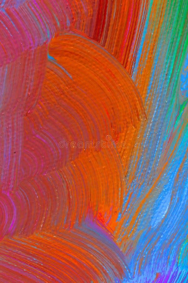 Αφηρημένη χρωματισμένη κρητιδογραφία ζωγραφική στοκ φωτογραφίες με δικαίωμα ελεύθερης χρήσης