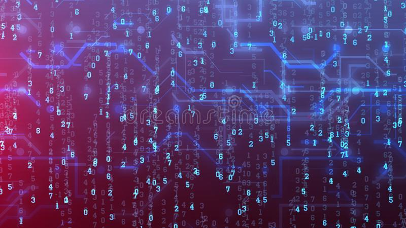 Αφηρημένη ψηφιακή επιλογή πινάκων κυκλωμάτων διανυσματική απεικόνιση