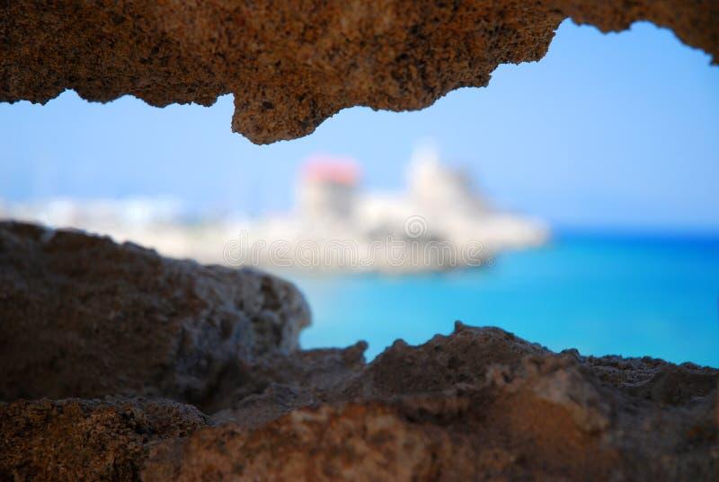 αφηρημένη όψη βράχου της Ρόδου στοκ εικόνες με δικαίωμα ελεύθερης χρήσης