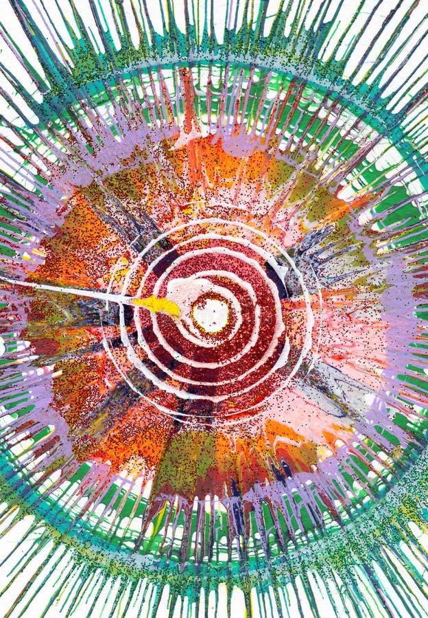 Αφηρημένη expressionism ζωγραφική διανυσματική απεικόνιση