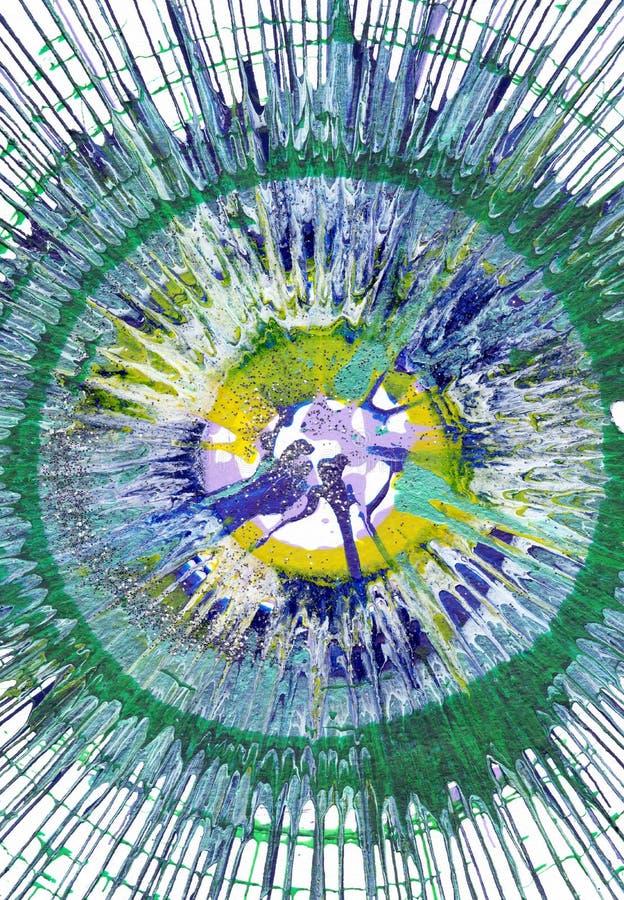 Αφηρημένη expressionism ζωγραφική ελεύθερη απεικόνιση δικαιώματος
