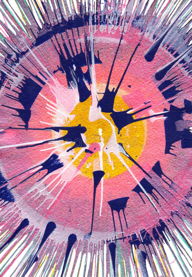 Αφηρημένη expressionism ζωγραφική απεικόνιση αποθεμάτων