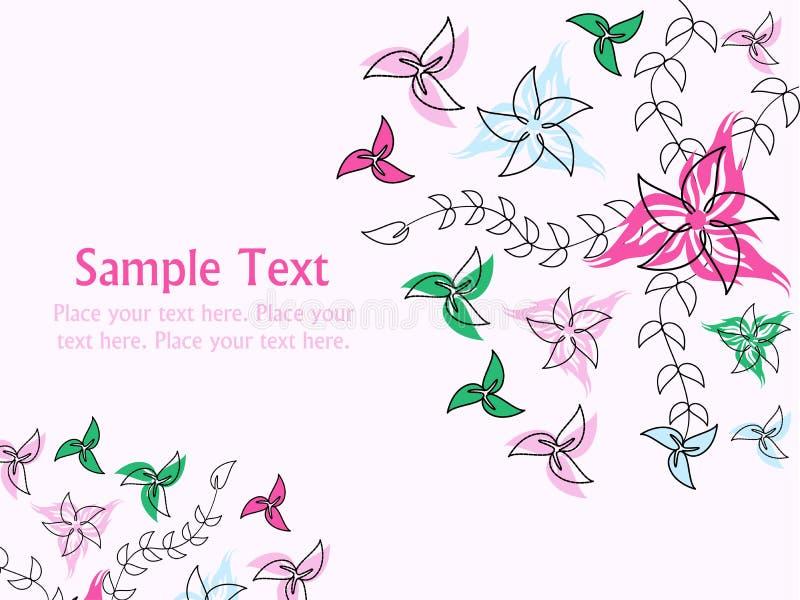 Download Αφηρημένη Floral ανασκόπηση Διανυσματική απεικόνιση - εικονογραφία από δερματοστιξία, στοιχείο: 22799581