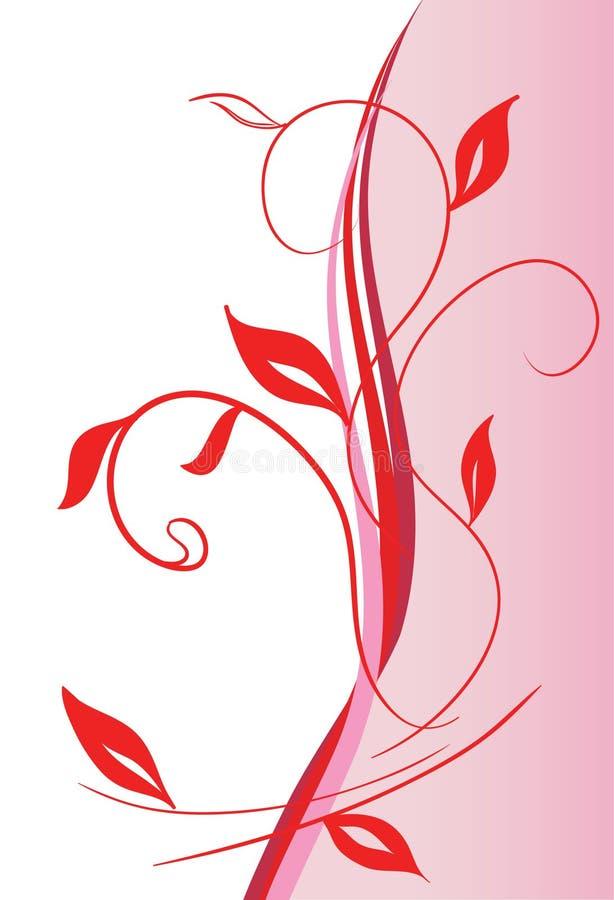 αφηρημένη floral διακόσμηση διανυσματική απεικόνιση