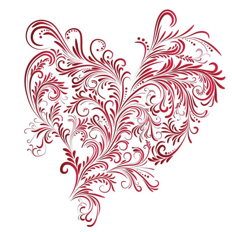 αφηρημένη floral καρδιά διανυσματική απεικόνιση