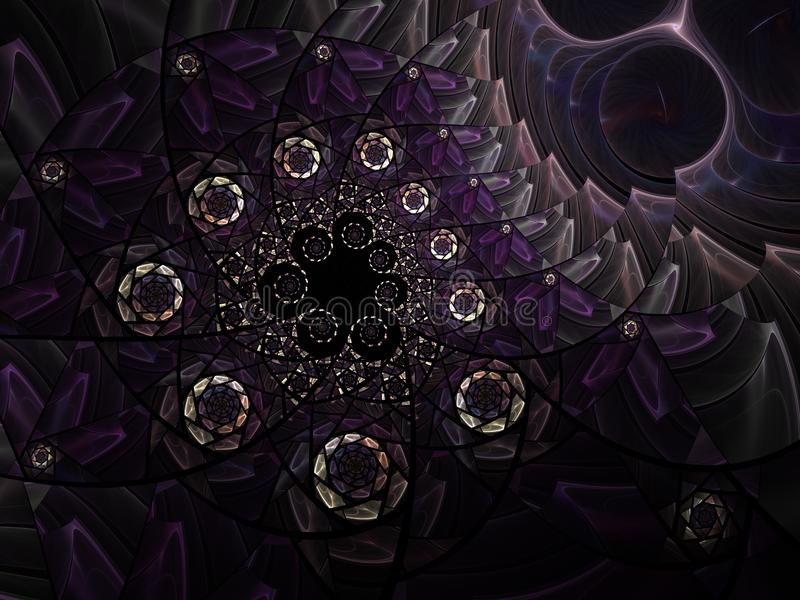 Αφηρημένη floral σύνθεση γυαλιού λεκέδων μωσαϊκών στον γκρίζο τόνο ελεύθερη απεικόνιση δικαιώματος