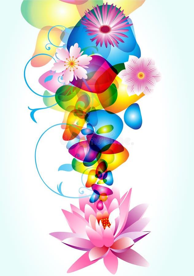 αφηρημένη floral υγρή κίνηση σχεδ απεικόνιση αποθεμάτων