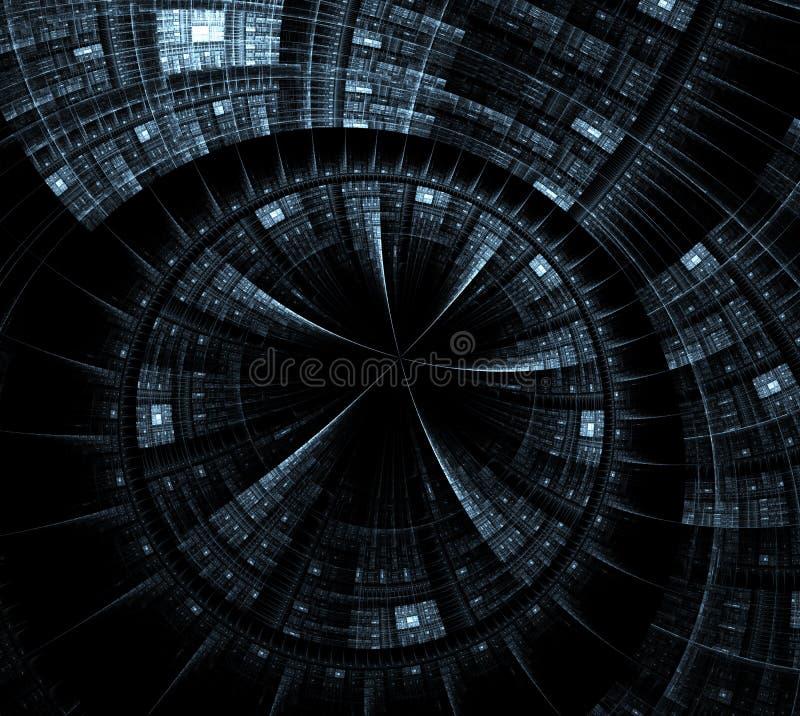 Αφηρημένη fractal ρόδα και spokes γραφικός ελεύθερη απεικόνιση δικαιώματος