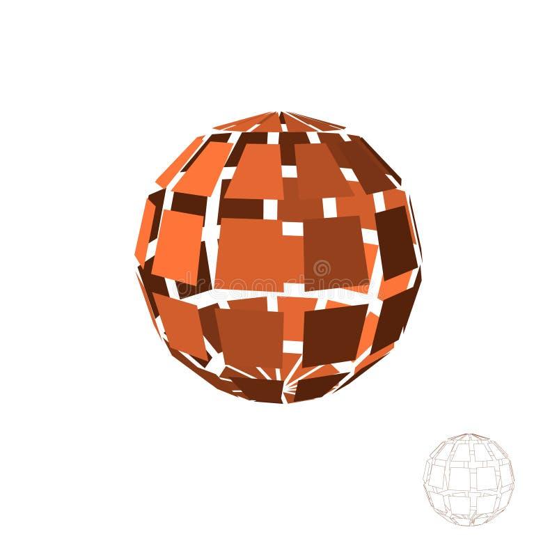 Αφηρημένη polygonal σπασμένη σφαίρα η ανασκόπηση απομόνωσε το λευκό Β διανυσματική απεικόνιση