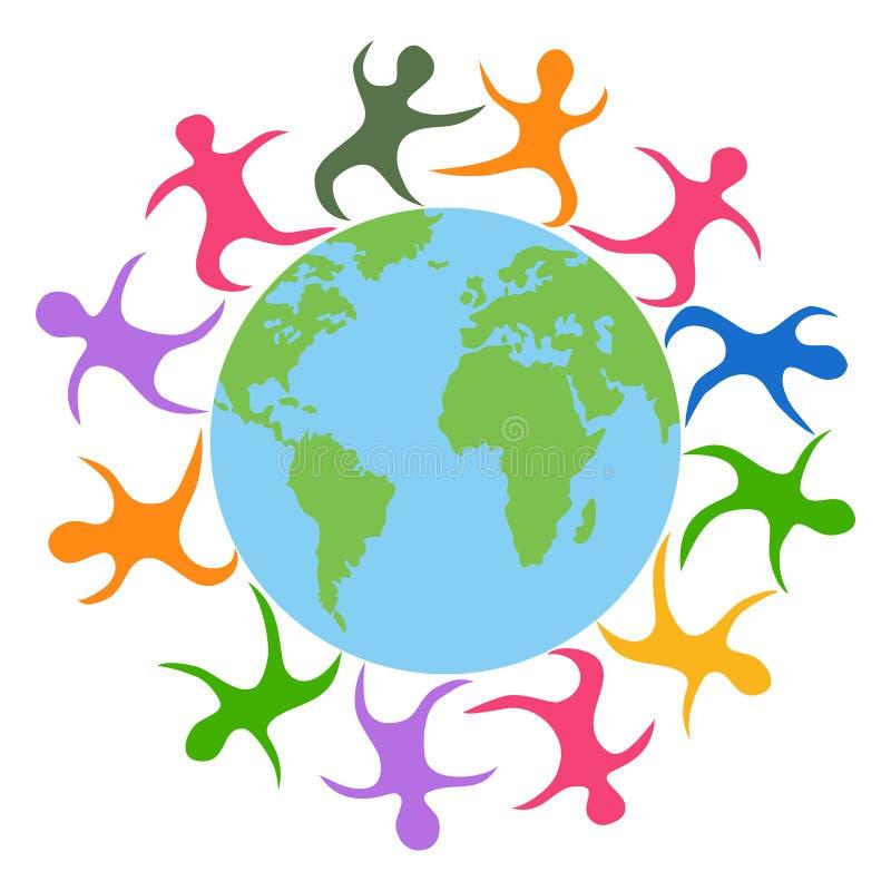 Αφηρημένοι άνθρωποι από όλο ο κόσμος διανυσματική απεικόνιση