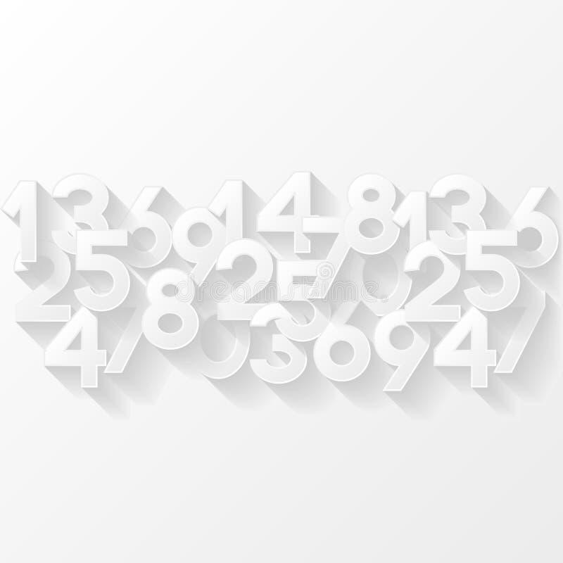 αφηρημένοι αριθμοί ανασκόπησης διανυσματική απεικόνιση