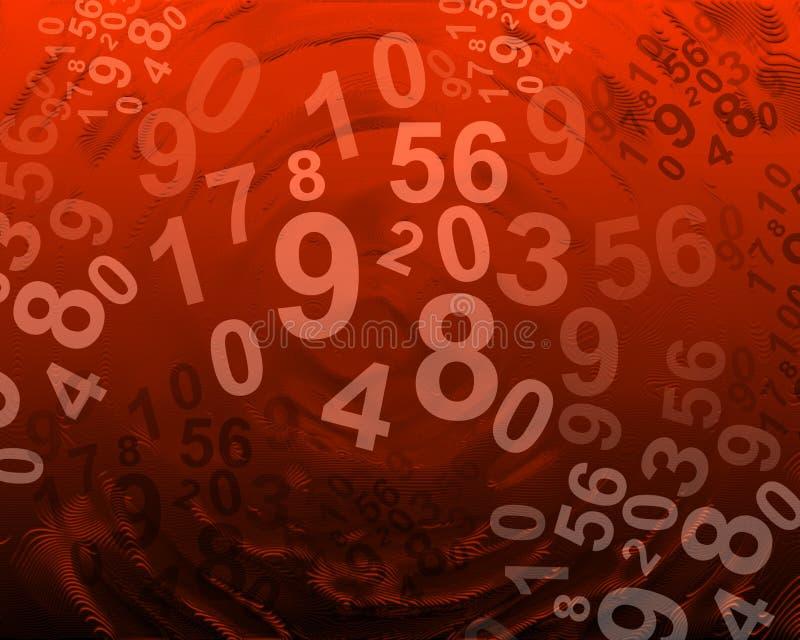 αφηρημένοι αριθμοί ανασκόπ& ελεύθερη απεικόνιση δικαιώματος