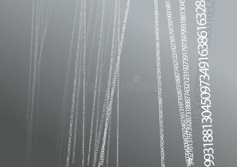 αφηρημένοι αριθμοί απεικόνισης διανυσματική απεικόνιση