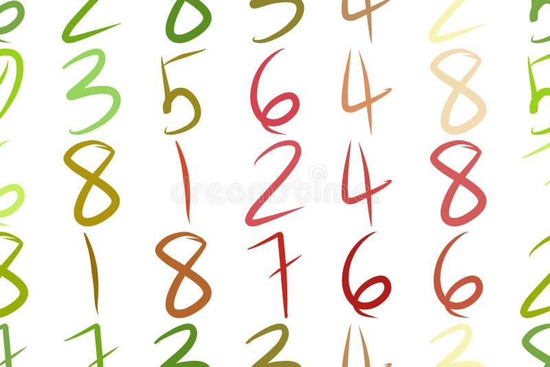 Αφηρημένοι αριθμοί υποβάθρου, χέρι που σύρεται για το σχέδιο, γραφικός πόρος Επίδραση, εκπαίδευση, ύφος & Ιστός απεικόνιση αποθεμάτων