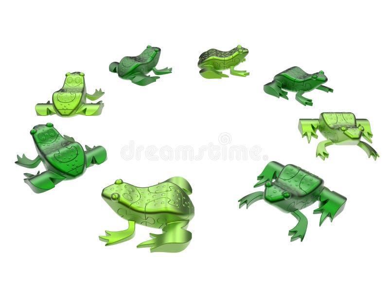 Αφηρημένοι βάτραχοι γρίφων απεικόνιση αποθεμάτων