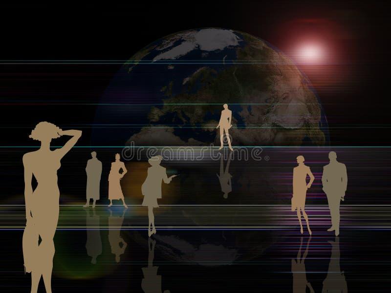 αφηρημένοι ενεργοί άνθρωπ&omic ελεύθερη απεικόνιση δικαιώματος