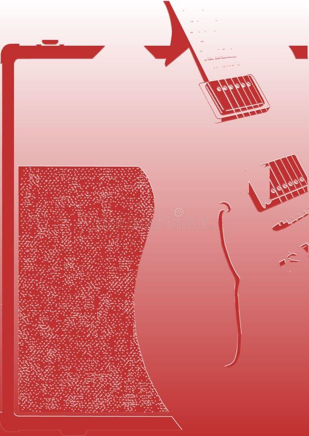 Αφηρημένοι κιθάρα και ενισχυτής απεικόνιση αποθεμάτων