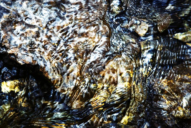 Αφηρημένοι κυματισμοί στην επιφάνεια νερού στοκ εικόνα