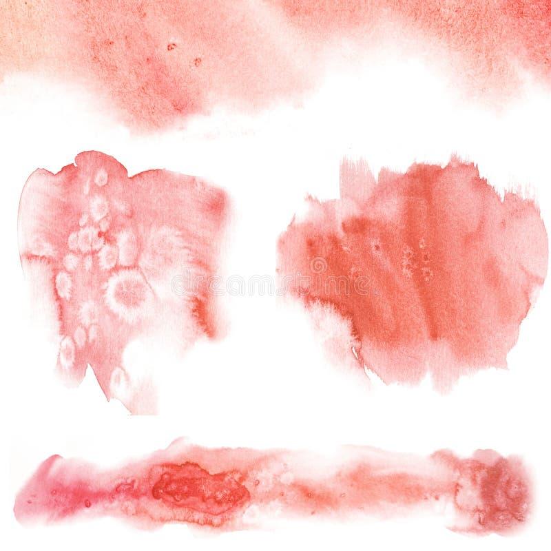 Αφηρημένοι λεκέδες watercolor με το άλας Το ράντισμα χρώματος στο έγγραφο συρμένος εικονογράφος απεικόνισης χεριών ξυλάνθρακα βου απεικόνιση αποθεμάτων