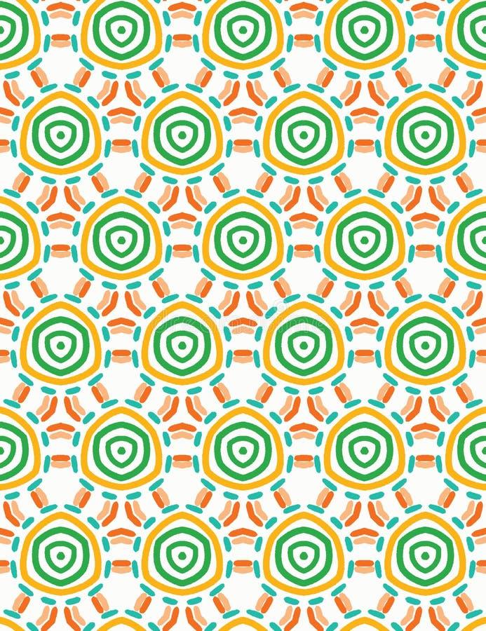 Αφηρημένοι οργανικοί ανόητοι κύκλοι περικοπών Διανυσματικό άνευ ραφής υπόβαθρο σχεδίων Συρμένο χέρι κατασκευασμένο ύφος Σπείρα ύφ διανυσματική απεικόνιση