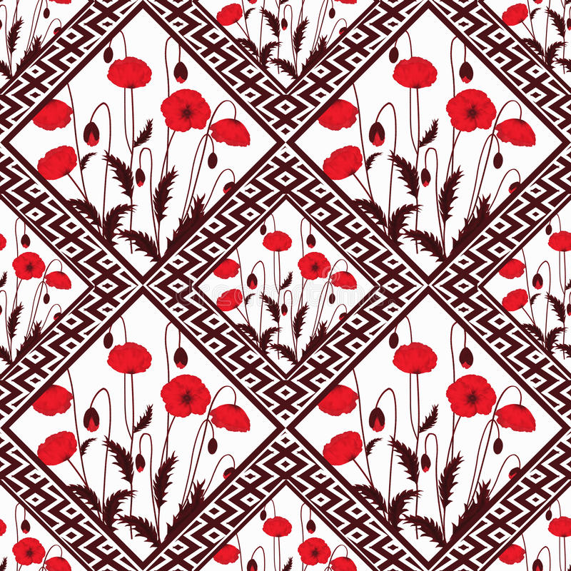 Αφηρημένος άνευ ραφής floral προσθηκών, ελαφρύ υπόβαθρο σύστασης σχεδίων με τα διακοσμητικά στοιχεία διανυσματική απεικόνιση