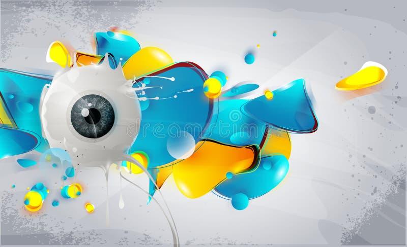 αφηρημένος άνθρωπος ματιών &s διανυσματική απεικόνιση