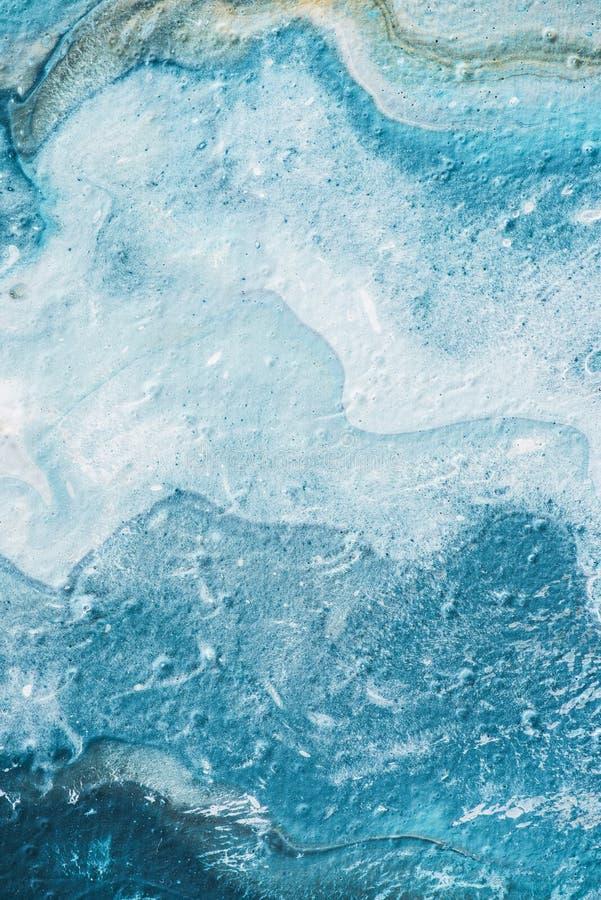 αφηρημένος ανοικτό μπλε κατασκευασμένος της ελαιογραφίας στοκ φωτογραφία με δικαίωμα ελεύθερης χρήσης