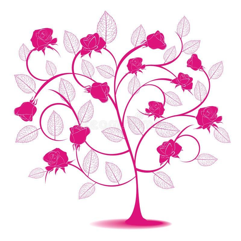 αφηρημένος αυξήθηκε δέντρ&omi διανυσματική απεικόνιση