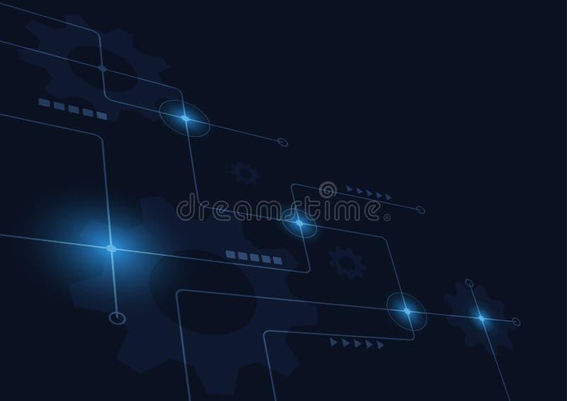 Αφηρημένος γεωμετρικός συνδέει τις γραμμές και τα σημεία Απλό γραφικό υπόβαθρο τεχνολογίας Διανυσματικές δίκτυο και σύνδεση σχεδί στοκ εικόνες