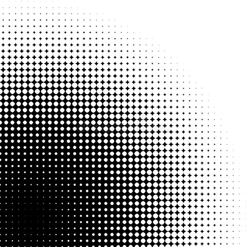 Αφηρημένος γραφικός: Ημίτονο στοιχείο φιαγμένο από 4 αστέρια σημείου διανυσματική απεικόνιση