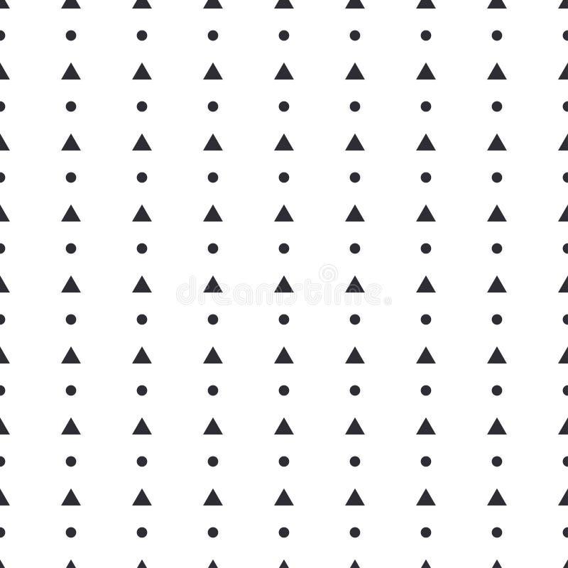 Αφηρημένος διανυσματικός άνευ ραφής κύκλος αριθμών σχεδίων γεωμετρικός, τρίγωνο, τετράγωνο Απλουστευμένη διακόσμηση γραμμών Υπόβα απεικόνιση αποθεμάτων