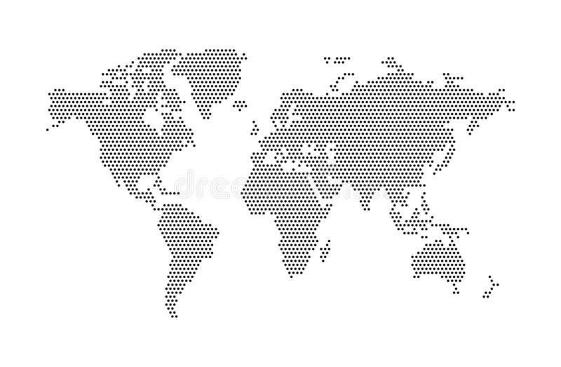 Αφηρημένος διανυσματικός παγκόσμιος χάρτης Παγκόσμιος χάρτης του σημείου επίσης corel σύρετε το διάνυσμα απεικόνισης διανυσματική απεικόνιση