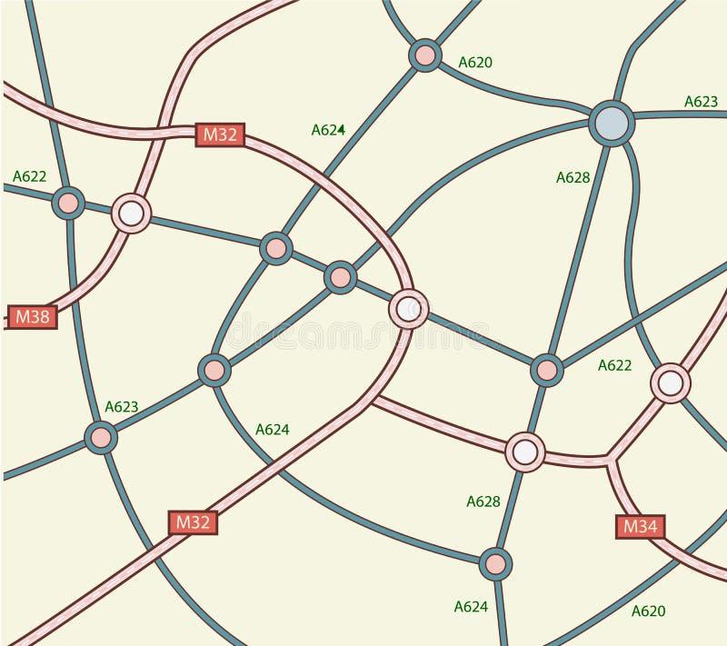 αφηρημένος δρόμος χαρτών απεικόνιση αποθεμάτων