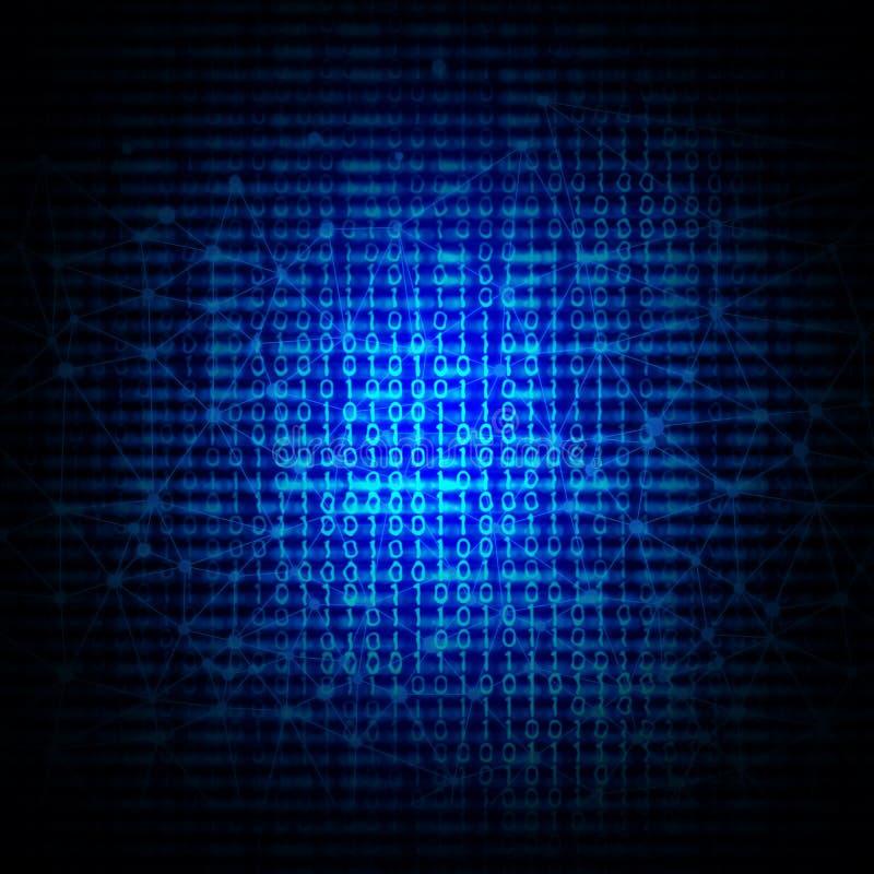 αφηρημένος δυαδικός κώδικας ανασκόπησης διανυσματική απεικόνιση