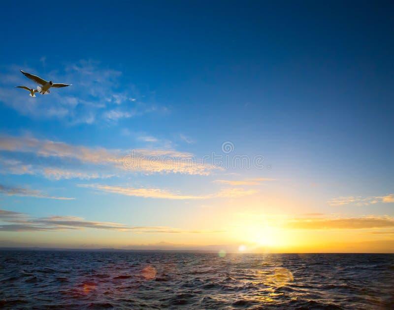 Αφηρημένος ειρηνικός τέχνης  εμπνευσμένο όμορφο ελαφρύ υπόβαθρο θάλασσας στοκ φωτογραφίες
