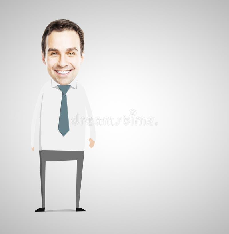 Αφηρημένος επιχειρηματίας χαμόγελου στοκ φωτογραφία με δικαίωμα ελεύθερης χρήσης