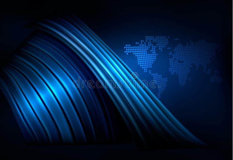 αφηρημένος επιχειρησιακός κομψός μΑ κόσμος ανασκόπησης διανυσματική απεικόνιση
